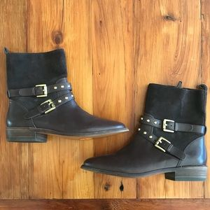 Coach Lilliana brown suede boot